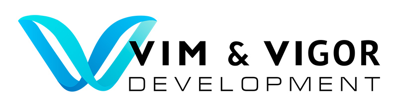 Задача: разработать логотип для американской ИТ-компании Vim & Vigor Development